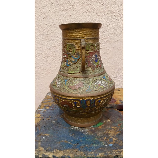 Japanese Vintage Inlaid Vase - Image 4 of 6
