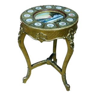 Early 20th Century Louis XV Sevres Gilt Decorated Side Table For Sale