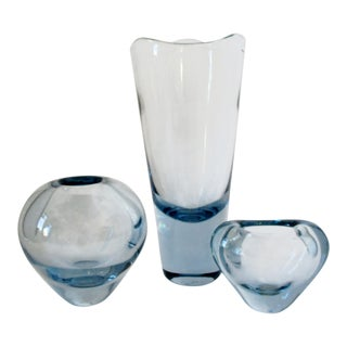 Per Lütken Holmegaard Vases, Set of 3 For Sale