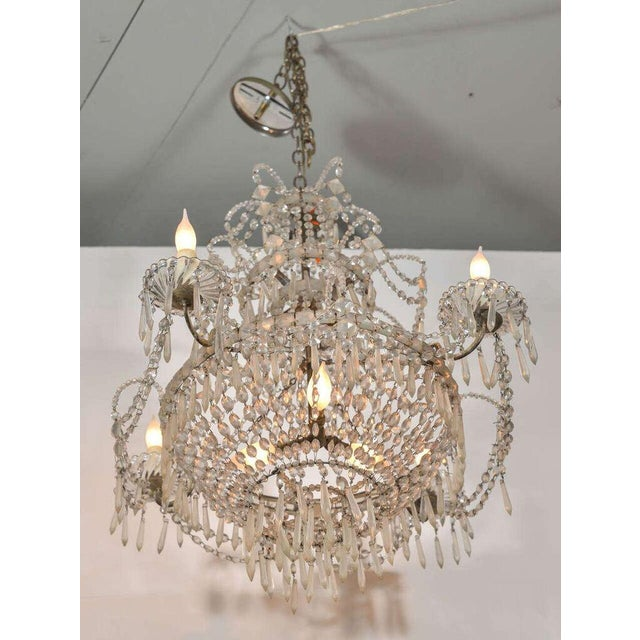 19th Century Seven-Light Crystal Chandelier - Image 9 of 10