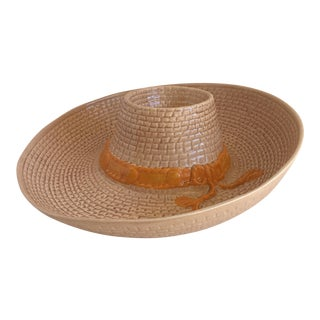 Vintage Chips & Salsa Ceramic Hat Tray
