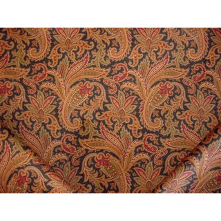 Traditional Ralph Lauren Whittington Paisley Print Cotton Upholstery Fabric - 2-1/2y For Sale