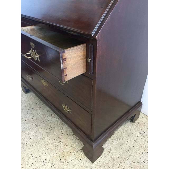 Early 19th C. English Mahogany Bureau Bookcase For Sale - Image 4 of 9
