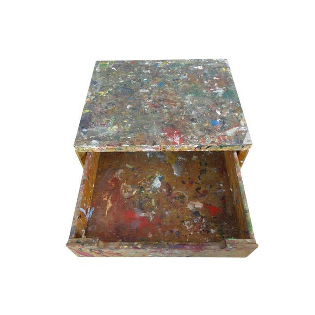 1950s Paint Splattered Cabinet From an Artist Studio For Sale - Image 5 of 10