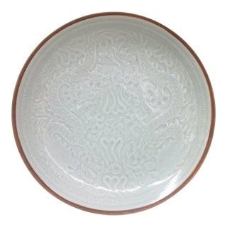 Original Celedon Hand Carved Porcelain Chinese Bowl
