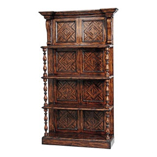 Scarborough House Distressed Parquetry Shelves For Sale