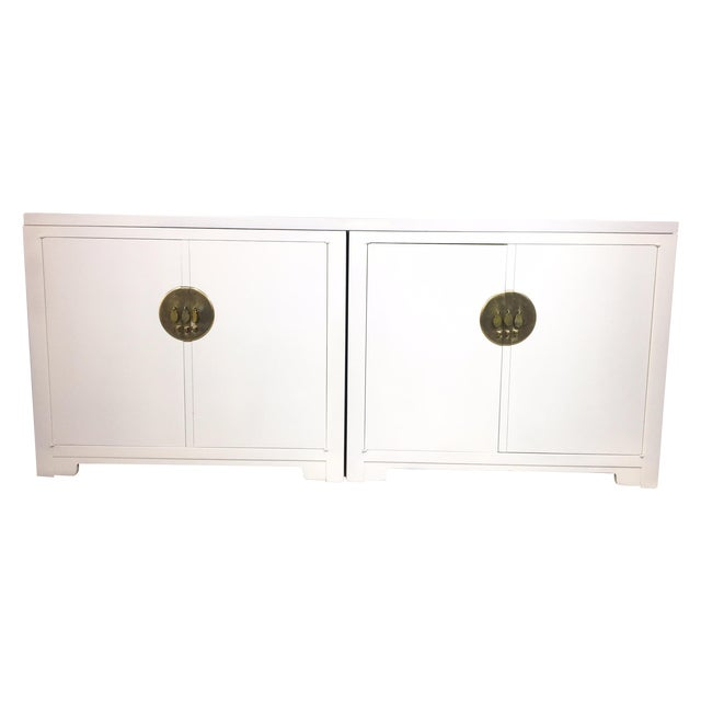 Michael Taylor for Baker White Ming Style Credenza - Image 2 of 6