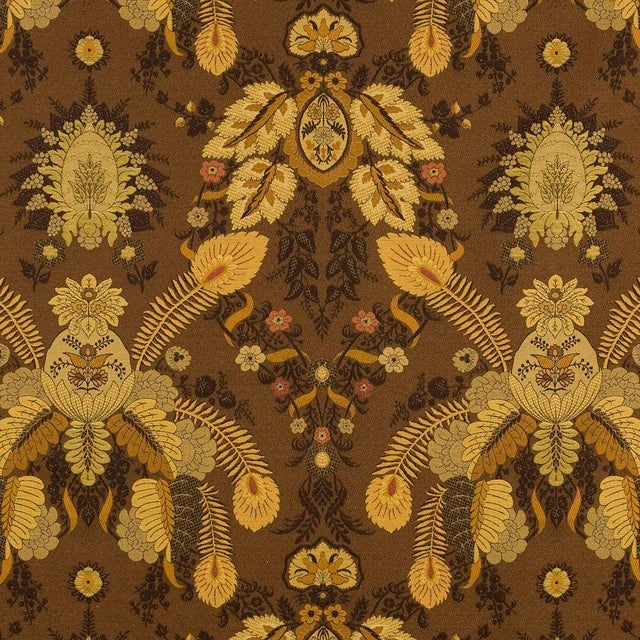 As a reinterpretation of an early 20th century document, Fleur de Plume is a woven multi-textured brocade displaying a...