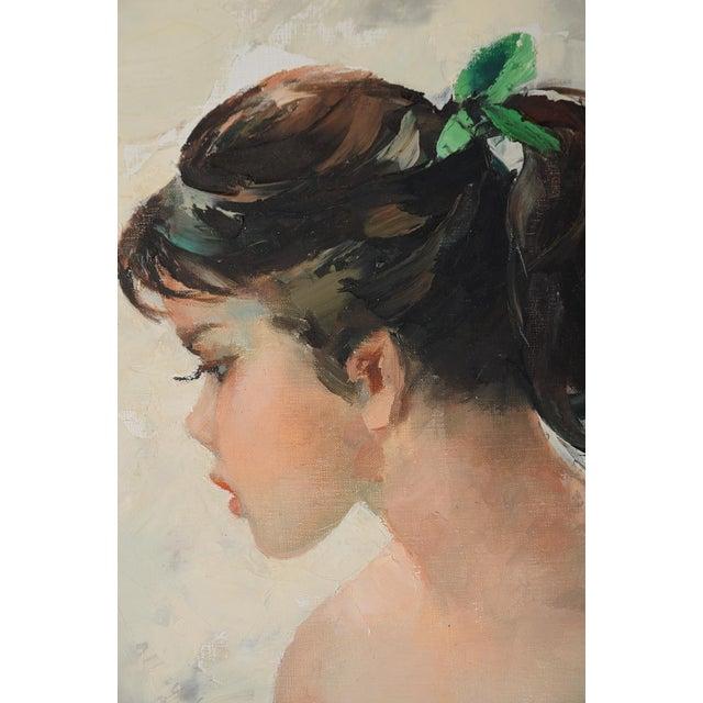Igor Talwinski Portrait of Innocent Girl Painting For Sale - Image 5 of 10
