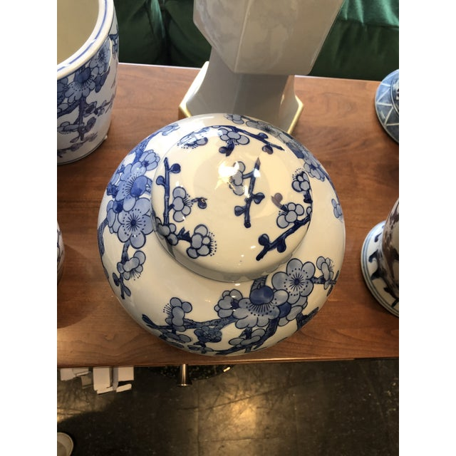 2020s Barclay Butera Blue & White Ginger Jar For Sale - Image 5 of 6