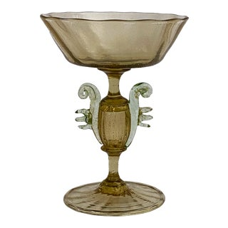 Old Venetian Champagne Glass Circa 1900 For Sale