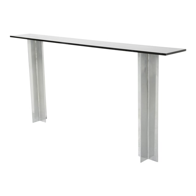 Pace Smoked Glass Console Table - Image 1 of 6