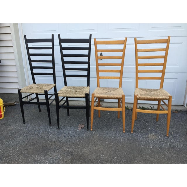 Vintage Mid Century Italian Ladder Back Chair- A Pair For Sale - Image 10 of 11
