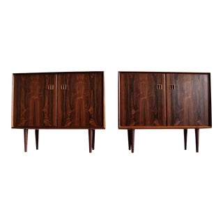 1960s Contemporary Scandinavian Niels Simonsen Rosewood Cabinets - a Pair