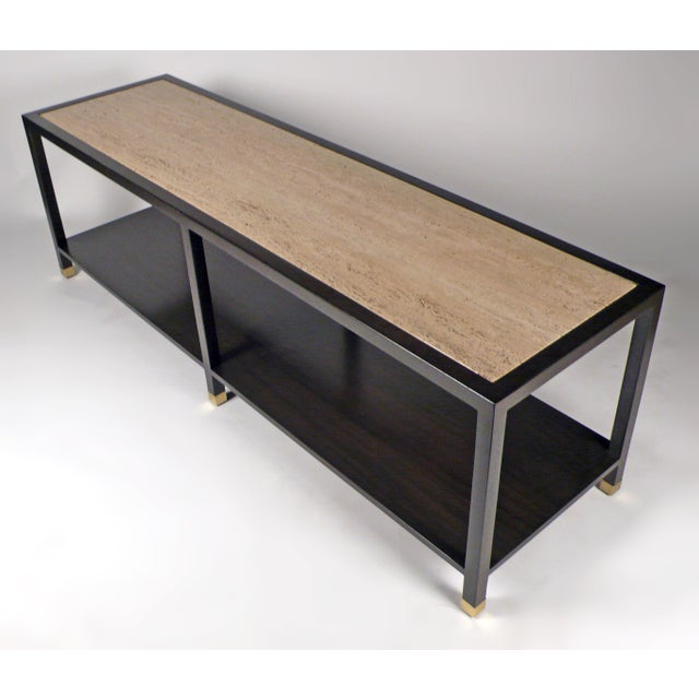 Harvey Probber Harvey Probber Travertine Console Table For Sale - Image 4 of 10
