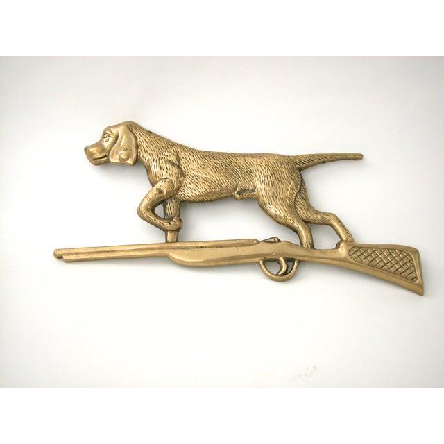Brass Dog & Rifle Wall Hanging - Image 2 of 8