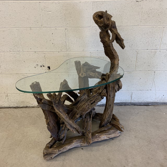 Unique Sculptural Driftwood Table For Sale - Image 11 of 11