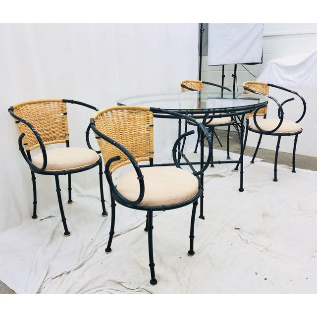 Vintage Regency Style Dining Set For Sale In Raleigh - Image 6 of 12