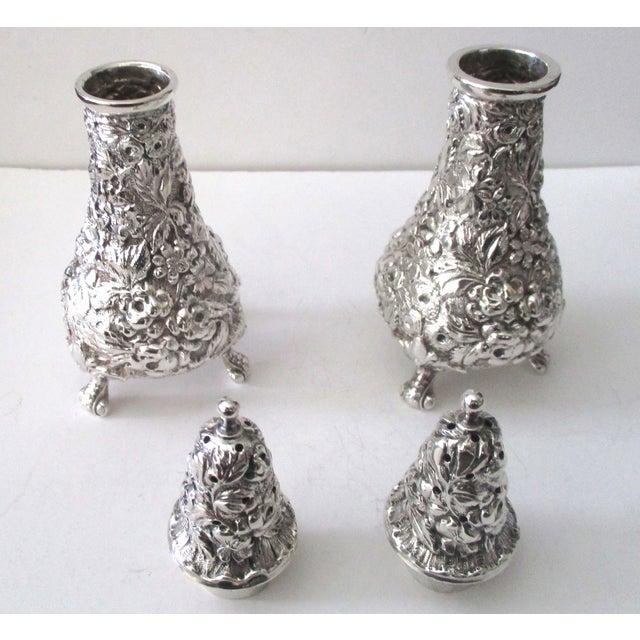 Stieff Rose-Pattern Salt & Pepper Set - Set of 4 - Image 5 of 11