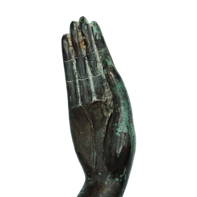 Vintage Bronze Hand Statue For Sale In Tulsa - Image 6 of 9