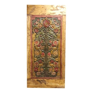 19th Century Vintage Hand Carved Tree of Life Barn Door For Sale