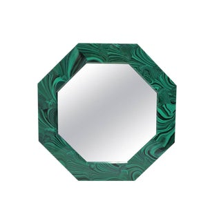Green Malachite Octagonol Wall Mirror For Sale