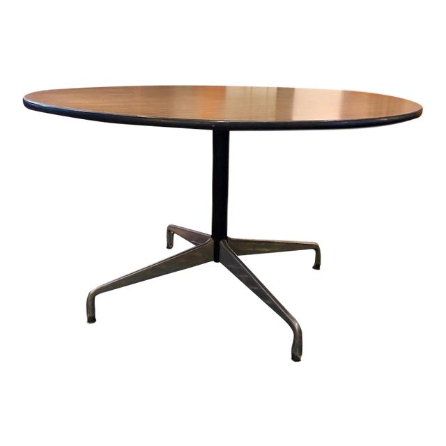 Vintage Eames For Herman Miller Aluminum Group Dining Table 48 Round