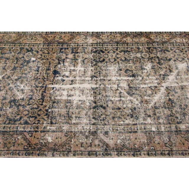 "Blue Apadana-Antique Persian Distressed Rug, 3'0"" X 11'7"" For Sale - Image 8 of 10"
