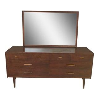 Vintage Ramseur Low Boy Chest of Drawers & Adjustable Tilt Mirror