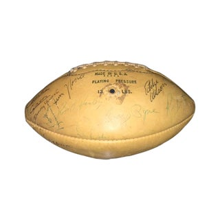 1965 Boston Patriots Autographed Leather Football For Sale