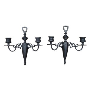 Antique Cast Iron Candle Sconces For Sale