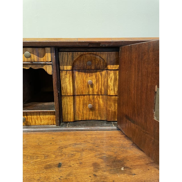 Chippendale Tiger Wood Slant Lid Desk For Sale In Boston - Image 6 of 11