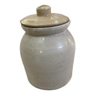 Vintage Stoneware Crock With Lid For Sale
