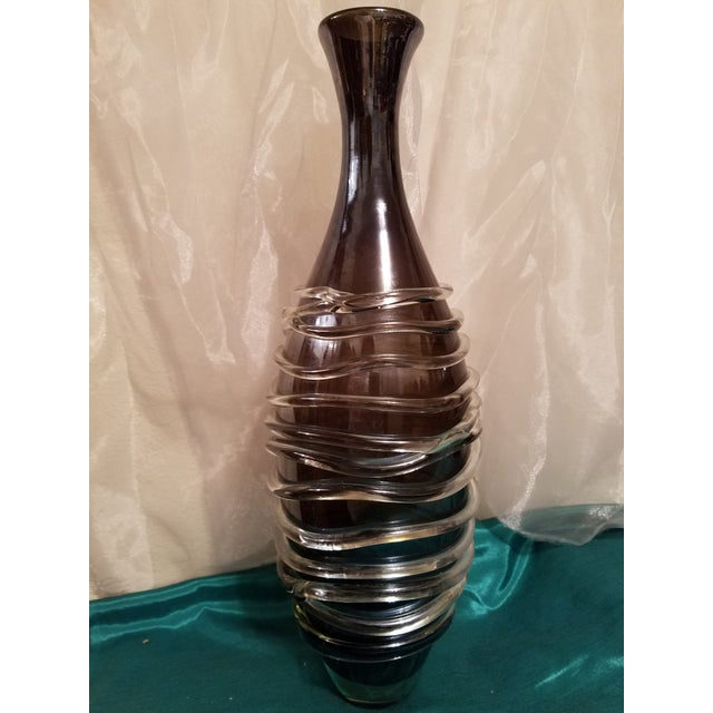 Murano Art Glass Modern Vase For Sale - Image 9 of 11