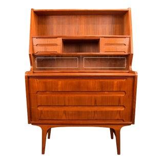 1960s Danish Modern Teak Secretary Desk