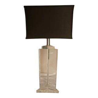 Lucite Table Lamp in the Style of Karl Springer