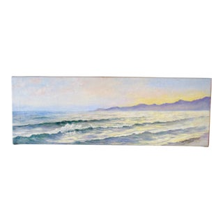 1908 Impressionist Seascape Oil Painting by Alice Gibson Hornby For Sale