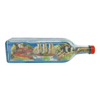 English Ship in Bottle For Sale