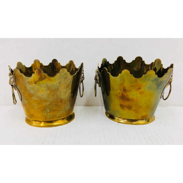 Pair Vintage Mottahedeh Planters For Sale In Raleigh - Image 6 of 6