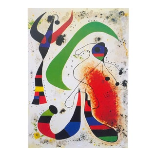 "Joan Miro Rare 1999 Iconic Spanish Surrealist Abstract Lithograph Print "" La Nuit - Night "" 1953 For Sale"