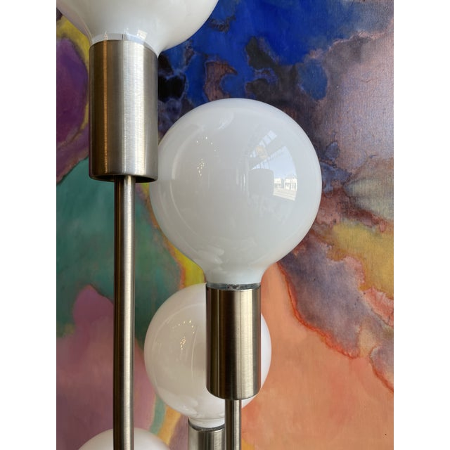 1970s 1970s Mid Century Modern Robert Sonneman Waterfall 5-Globe Lamp For Sale - Image 5 of 10