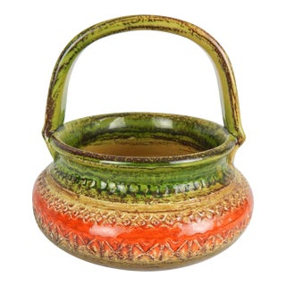 Aldo Londi for Bitossi Sahara Handle Bowl For Sale