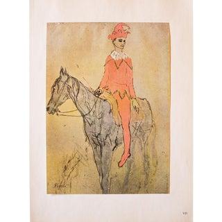 """1950s Pablo Picasso, """"Clown a Cheval"""" Original Period Photogravure For Sale"""