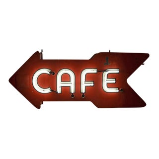 Mid-century Double-sided Neon Cafe Sign Circa 1960