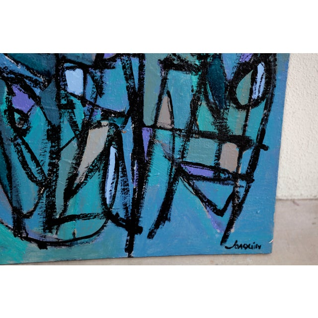"""""""Sea Moons"""" Acrylic on Canvas by Artist Kenneth Joaquin For Sale - Image 9 of 13"""