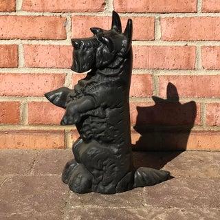 Vintage Cast Iron Scottie Dog Doorstop Preview