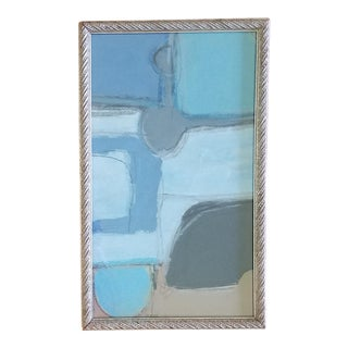 Beth Downey Blue Abstract Painting For Sale
