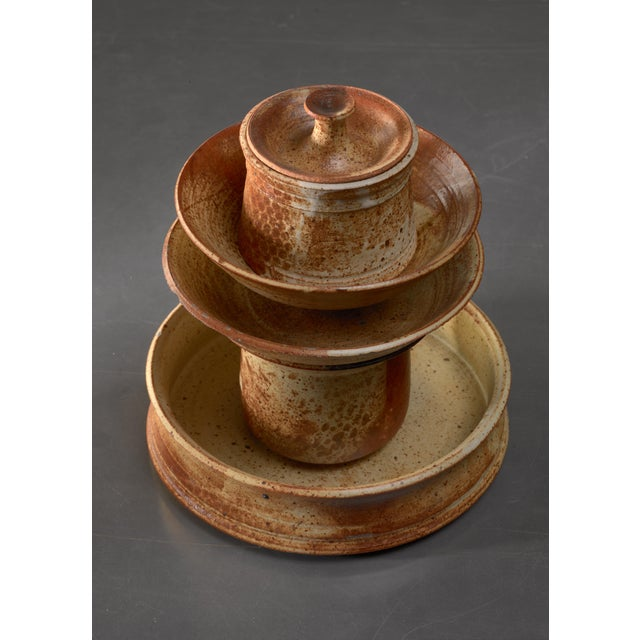 1960s Set of Five Franco Agnese Ceramic Pieces For Sale - Image 5 of 5