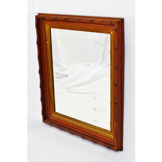 Vintage Framed Carved Wood Wall Mirror Preview