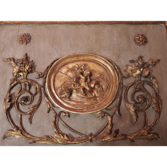 Mid 19th Century 19th Century French Trumeau Mirror For Sale - Image 5 of 7